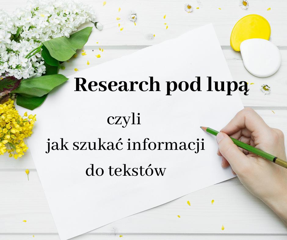 Jak szukać informacji do tekstów